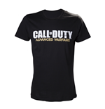 CALL OF DUTY Advanced Warfare Large T-Shirt with Main Logo, Black