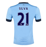 2014-15 Manchester City Home Shirt (Silva 21)