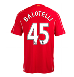 2014-15 Liverpool Home Shirt (Balotelli 45)