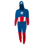 CAPTAIN AMERICA Adult Men's Costume Jump Suit