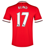 2014-15 Manchester United Home Shirt (Blind 17)