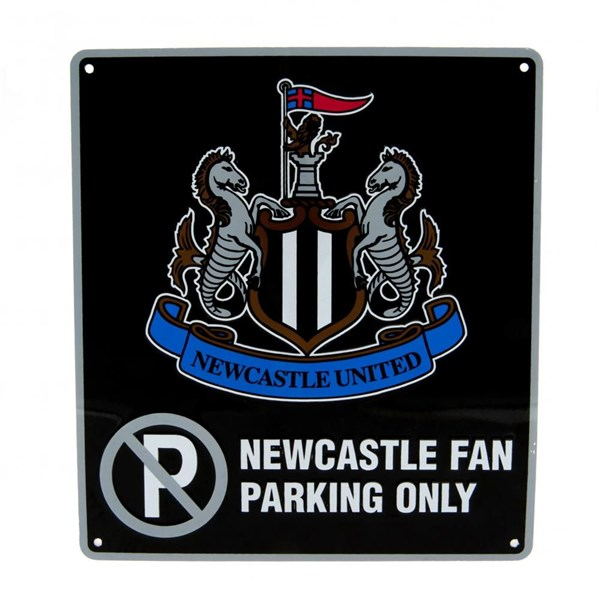Newcastle United F.C. No Parking Sign