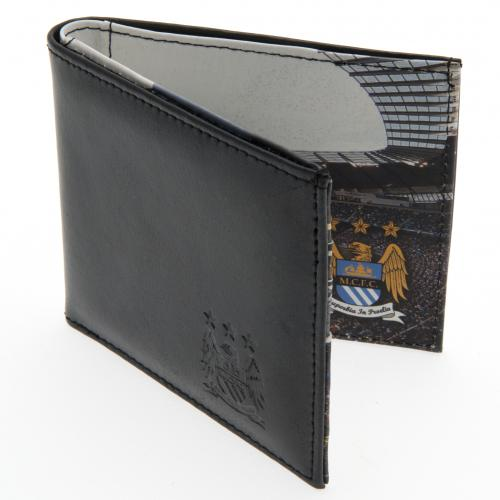 Manchester City F.C. Embossed Leather Wallet 801