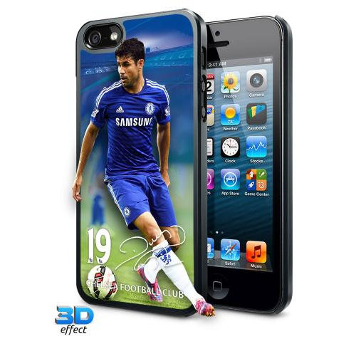 Chelsea F.C. iPhone 5 / 5S Hard Case 3D Diego Costa