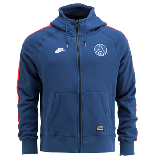 reputable site 2893b 19aec 2014-2015 PSG Nike Authentic Full Zip Hoody (Navy)