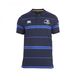 2014-2015 Leinster Rugby Stripe Polo Shirt (Navy)