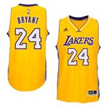 Men's Los Angeles Lakers Kobe Bryant adidas Gold New Swingman Home Jersey
