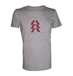 DESTINY Red Hunter Logo Large T-Shirt, Melange Silver