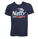 Natty Light Classic Logo Men's Navy Blue T-Shirt