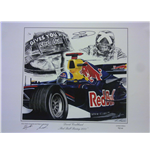 David Coulthard Signed Canvas Print - Red Bull Racing 2005