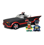 DC Universe Mez-Itz 1966 Batmobile with Batman and Robin