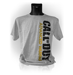 CALL OF DUTY Advanced Warfare Vertical Logo Medium T-Shirt, Grey Melange