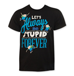 ADVENTURE TIME Let's Always Be Stupid Forever Tee Shirt