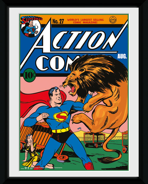 Superman Lion Framed Collector Print