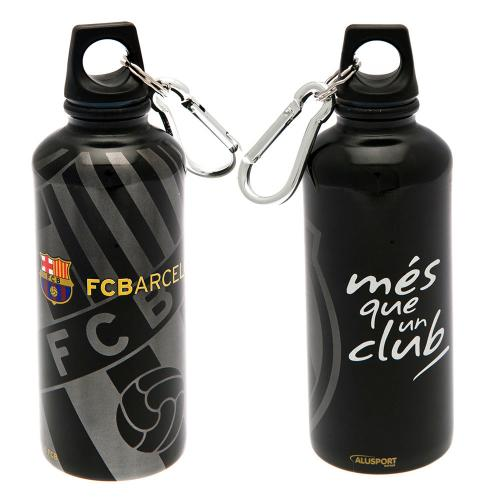 F.C. Barcelona Aluminium Drinks Bottle BLK