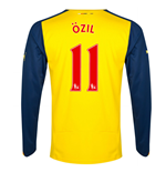 2014-15 Arsenal Long Sleeve Away Shirt (Ozil 11)
