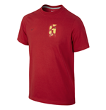 2014-15 Spain Nike Iniesta Hero Tee (Red) - Kids