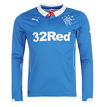 2014-2015 Rangers Home Long Sleeve Shirt
