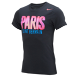 2014-2015 PSG Nike Core Plus Tee (Black)