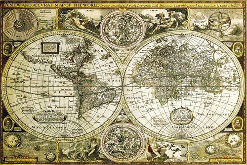 World Map Historical Maxi Poster