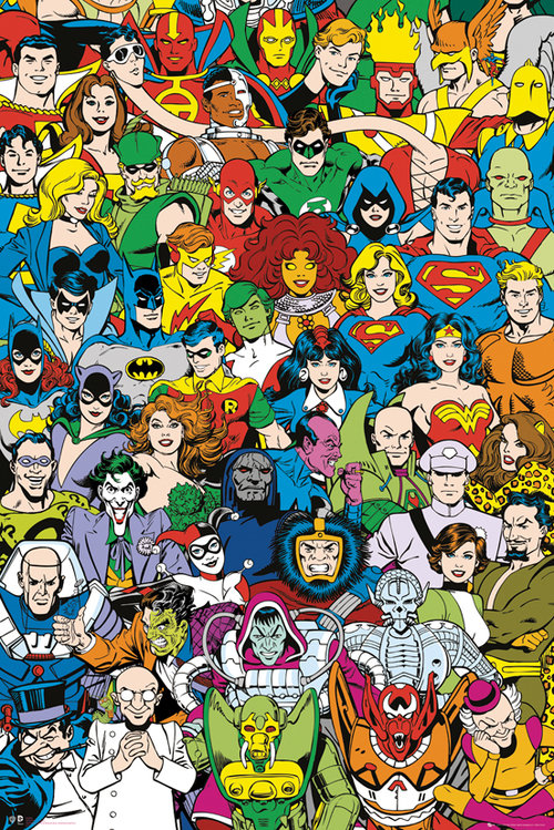 DC Comics Retro Cast Maxi Poster