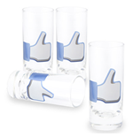 Set of 4 'Like Shot Glasses