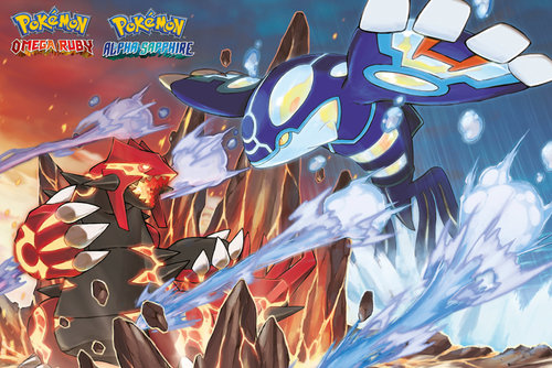 Pokemon Groudon and Kyogre Maxi Poster