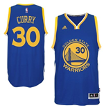 Mens Golden State Warriors Stephen Curry adidas Royal Blue New Swingman Road Jersey