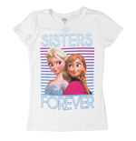 Disney FROZEN Sisters Forever Girls 7-16 Tee Shirt