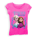Disney FROZEN Forever Sisters Girls 7-16 Tee Shirt