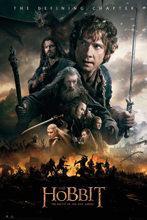 The Hobbit Battle of Five Armies Fire Maxi Poster