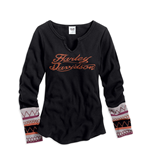Harley Davidson Long sleeves T-shirt 128005