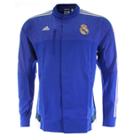2014-2015 Real Madrid Adidas Anthem Jacket (Blue)