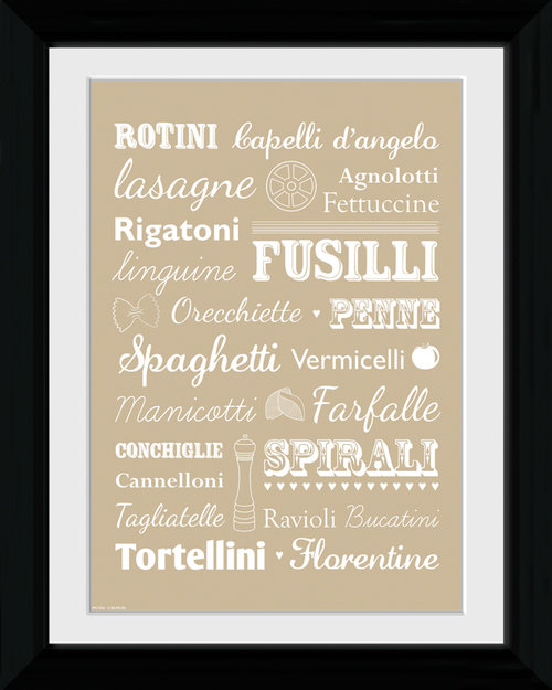 Pasta Types Collector Print