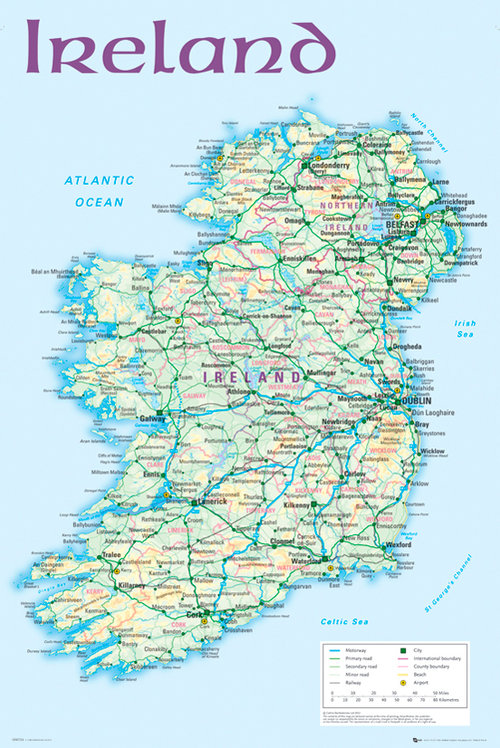 World map posters official merchandise 201718 ireland map 2012 maxi poster gumiabroncs Images