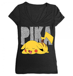 POKEMON Sleeping Pika Women's V-Neck Tee