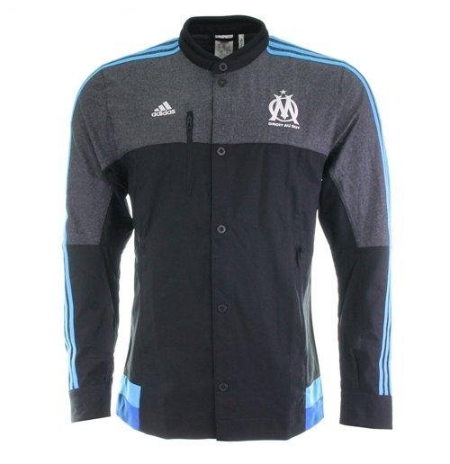 2014 2015 Marseille Adidas Anthem Jacket (Black)