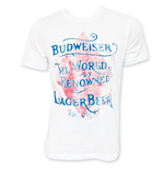 BUDWEISER Men's White World Renowned Vintage T-Shirt
