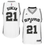Mens San Antonio Spurs Tim Duncan adidas White New Swingman Home Jersey