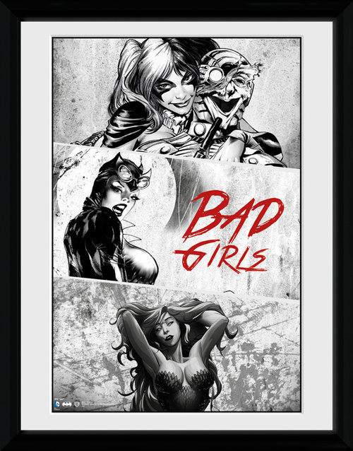 Batman Comic Badgirls Framed Collector Print