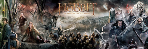 The Hobbit Battle of Five Armies Collage Door Poster