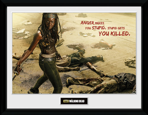 The Walking Dead Michonne Kill Framed Collector Print