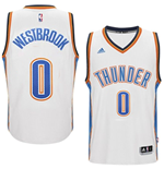 Mens Oklahoma City Thunder Russell Westbrook adidas White New Swingman Home Jersey