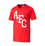 2014-2015 Arsenal Puma Fan Tee (Red)