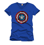 Captain America T-Shirt Collage Logo