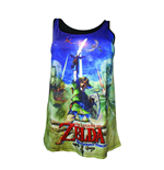 NINTENDO Legend of Zelda Skyward Sword Female Link Sublimation Tank Top, Extra Large, Blue/Green