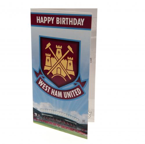 West Ham United F.C. Birthday Card