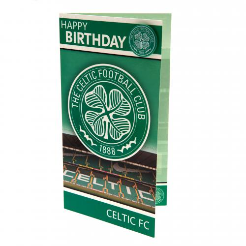 Celtic F.C. Birthday Card and Badge