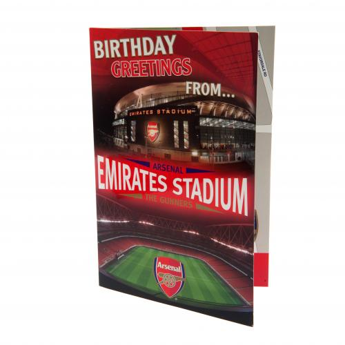 Arsenal F.C. Pop-Up Birthday Card