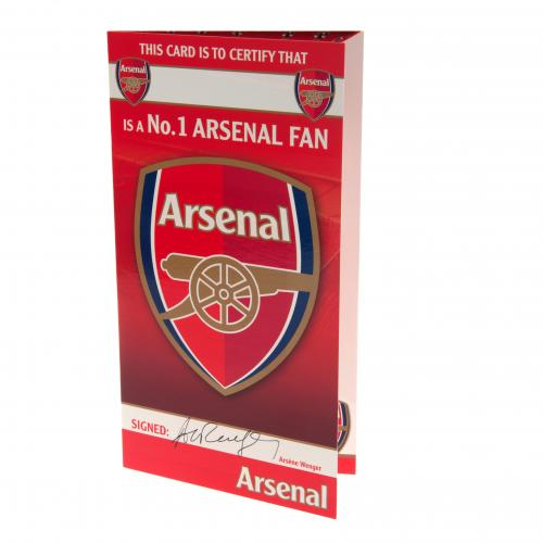 Arsenal F.C. Birthday Card No 1 Fan